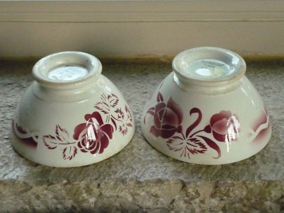 2 anciens bols digoin sarreguemines decor floraux bordeaux i decor and