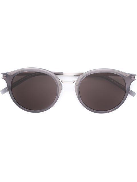 SAINT LAURENT round frame sunglasses. #saintlaurent #圆框太阳眼镜