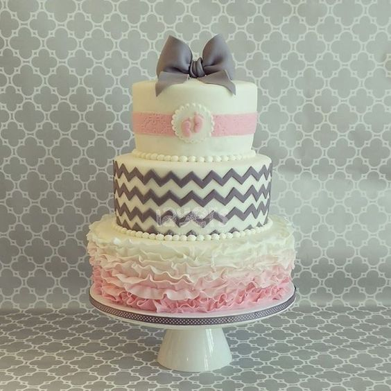grey and pink ballerina baby shower cake baby shower cakes