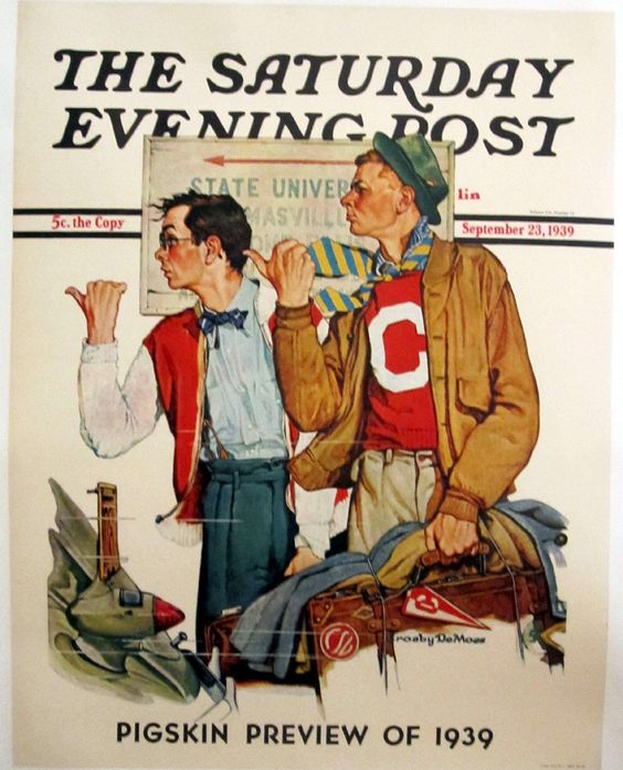 "Saturday Evening Post ""Hitchhikers"" by Norman Rockwell, 1939"
