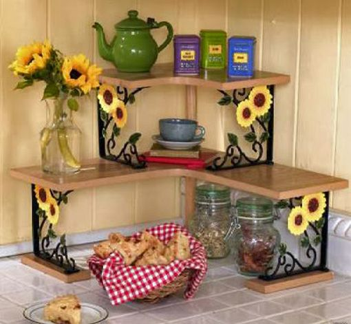I so need this! Not sure if I want sunflowers or roosters in my kitchen! sunflower themed kitchen decor - Google Search