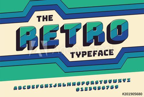 Retro Font 90 S 80 S Typography Design Simple Bold Style Vector Abc Alphabet Retro Typography Retro Font Typography Fonts Alphabet