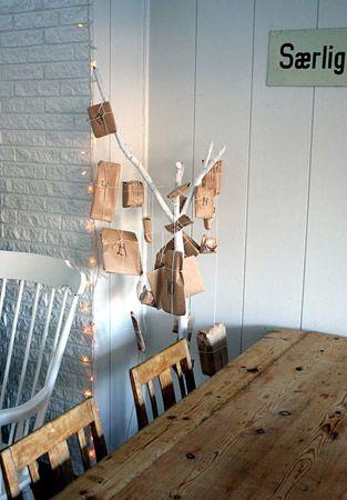 I love this idea for an advent calendar