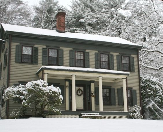 house in snow home colors pinterest architecture colors and. Black Bedroom Furniture Sets. Home Design Ideas
