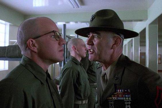 Arliss Howard And R Lee Ermey Star In Full Metal Jacket Warner Bros Kriegsfilme Herrin Filme