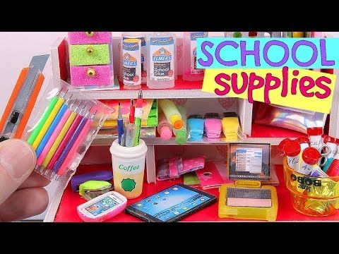 7 Diy Miniature School Supplies Youtube Miniature School Diy Crafts For School Diy Doll School Supplies