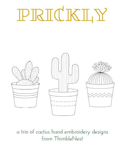Cactus Hand Embroidery PatternsPDF Download3 By