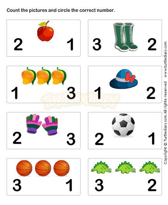 Learn Numbers Worksheet3 - math Worksheets - preschool Worksheets ...