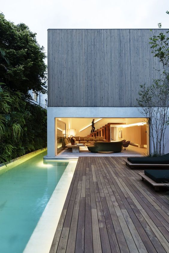DS House, Sao Paulo, 2015 - Studio Arthur Casas.  Idea for a container home with concrete base. Thoughts? (J Train)