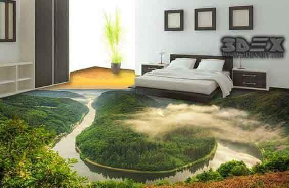 3d Flooring Design 3d Epoxy Floor Coating For Bathroom Bedroom Kitchen Floor Wallpaper Wallpaper Walls Bedroom Epoxy Floor Designs