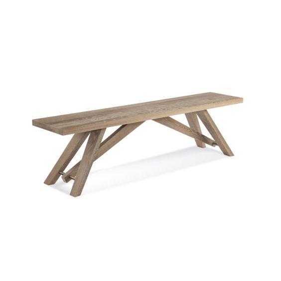 Saloom Lenox 47-inch Cafe Oak Bench