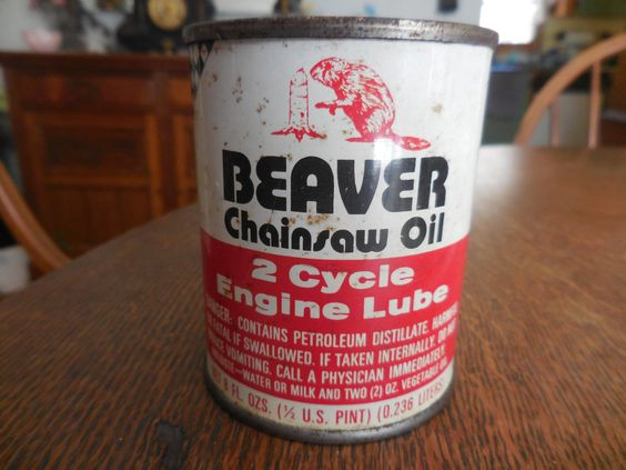 Vintage Small Beaver Chainsaw Oil Can 1970s 2 Cycle Engine Lube Men Manly Garage Man Cave Wood Cutting by KimsKreations17 on Etsy