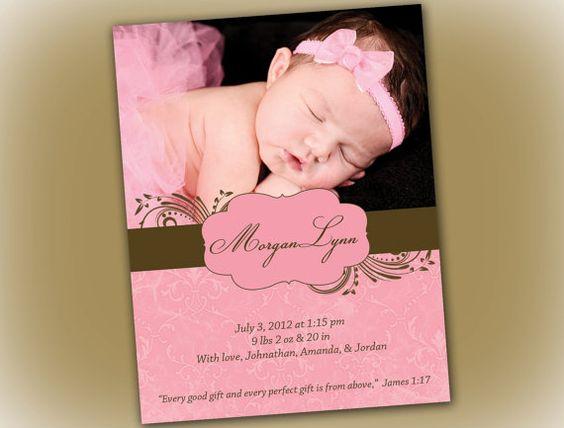 Pink and Brown Vintage Damask Printable Baby by elegantprints, $20.00