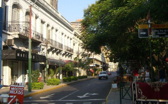 Mariscal Estagarribia is a cross-border town in Paraguay