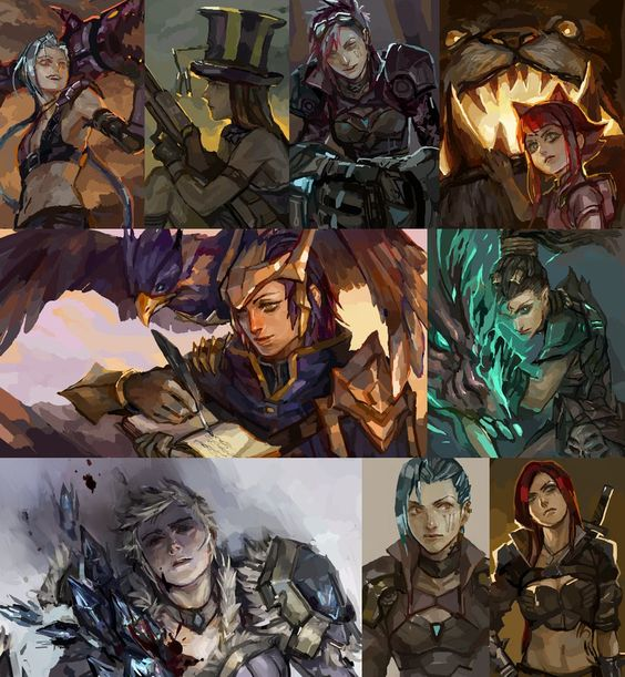 [LoL] champs compilation by zuqling on deviantART