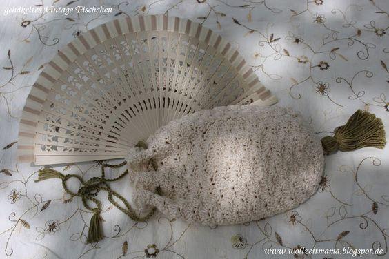 Häkeln: Vintage Täschchen selber machen für festliche Anlässe wie Ball, Theater, Konzert oder Hochzeit - mit kostenloser Anleitung!