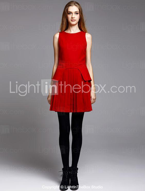 TS Wool Blend Folded Knit Dress