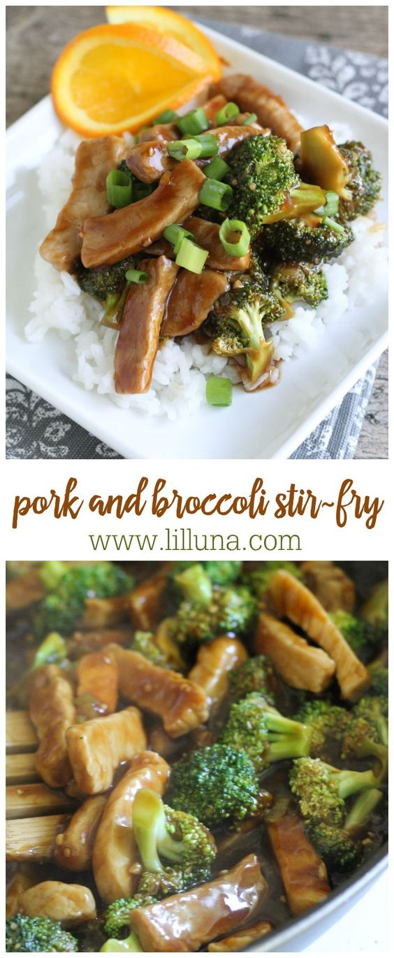 Pork and Broccoli Stir-Fry! If you love Asian food, you'll love this simple and delicious dinner recipe.