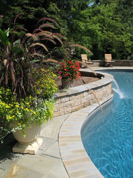 Retaining Wall and Slate Paverscreate your own dream
