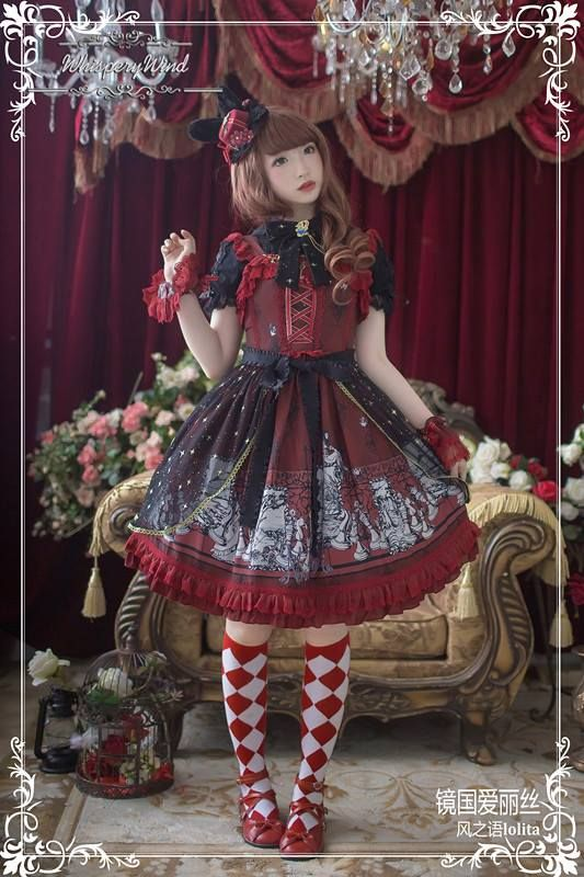 The pre-order for [-♡♡-Alice In Mirrorland-♡♡-] Series will END in about 8 hours later >>> http://www.my-lolita-dress.com/newly-added-lolita-items-this-week/whisper-of-the-wind-alice-in-mirrorland-series