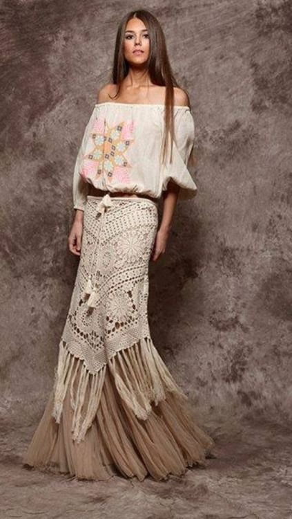 Boho Hippie Saias And Estilo On Pinterest