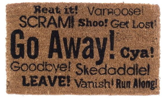 Go Away Synonyms Doormat
