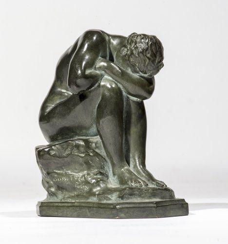 Aimé-Jules DALOU ( 1838-1902) Le miroir brisé