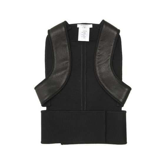 Givenchy Tops Black Fitted Leather Harness Vest - StyleCaster found on Polyvore