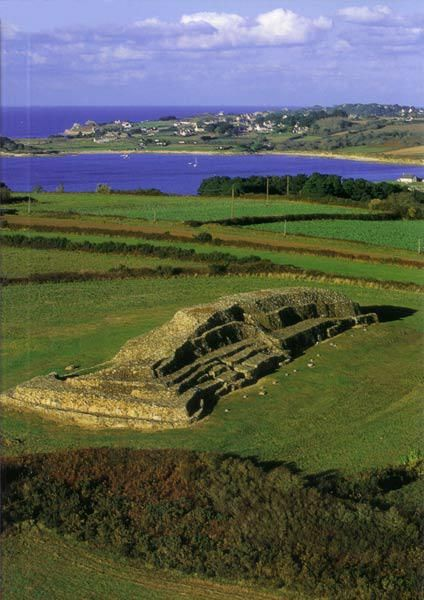 Barnenez Cairn,   Morlaix bay.   Brittany  - oldest building in the world.