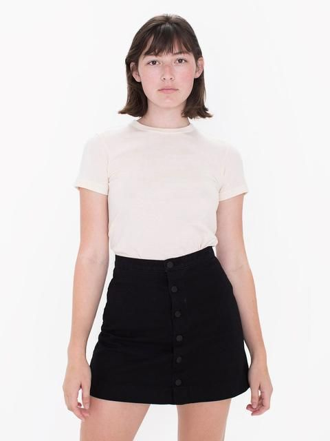 AMERICAN APPAREL: rsadm320 - Button Front Denim A-Line Skirt Buy ...