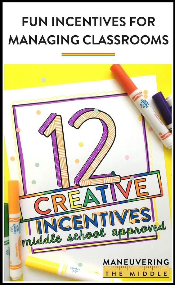 Classroom Reward Ideas For Middle School ~ Creative and cheap incentives for middle school to