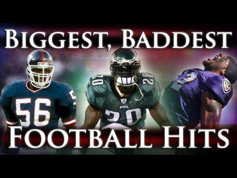 Biggest Baddest Football Hits Ever Youtube Football Hits Nfl Memes Funny Fun Sports