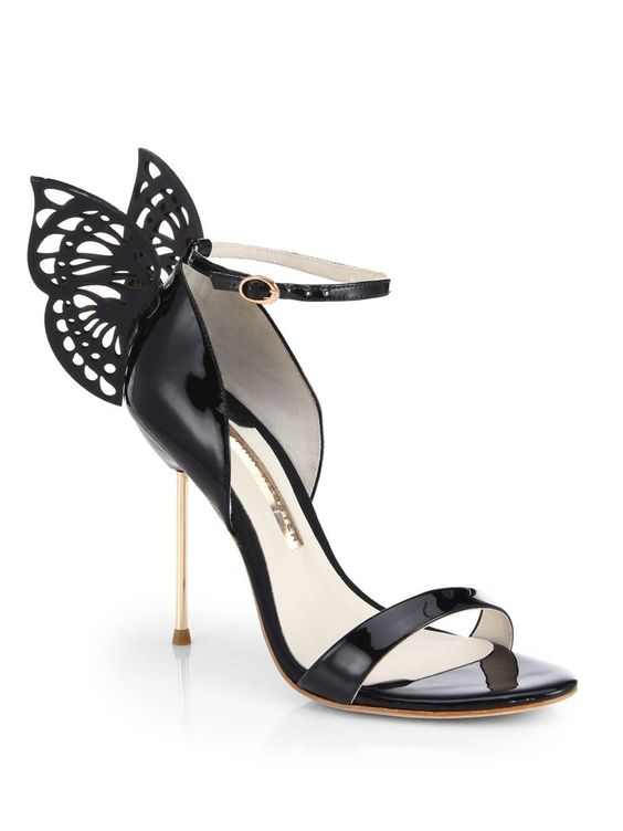 Flutura Butterfly Patent Leather Sandals from Sophia Webster | StyleSpotter