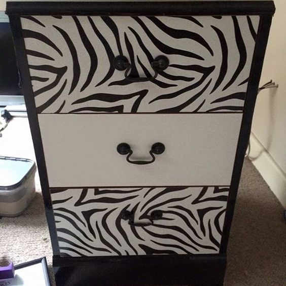 Three drawer night stand given makeover. Sold.  #makeover