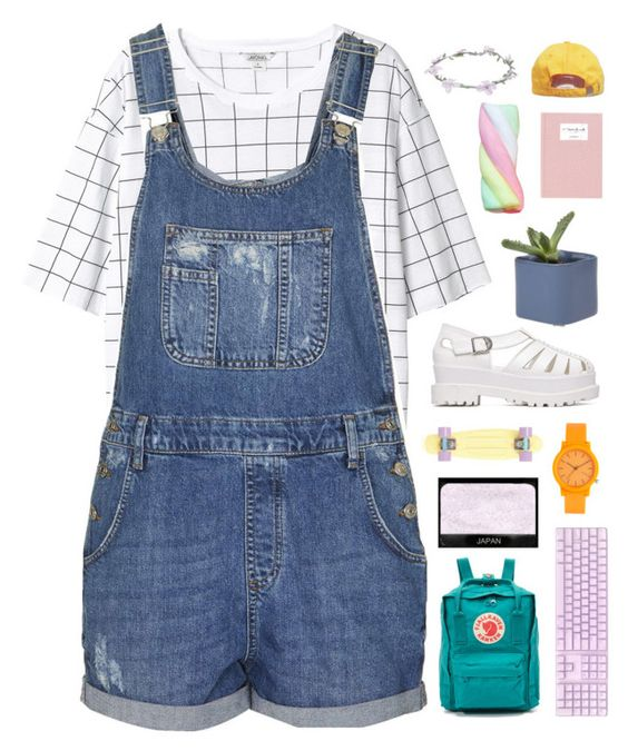 """""""I like when you smile, but I love it when I'm the reason."""" by tiaranrnd ❤ liked on Polyvore featuring Monki, Topshop, Fjällräven, Wet Seal, NARS Cosmetics and Komono"""
