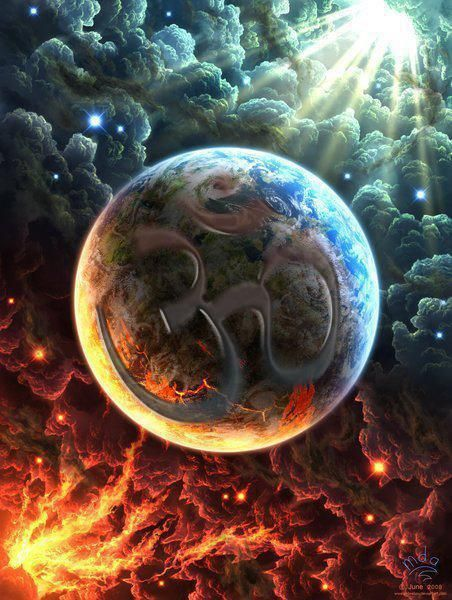 .: Sun Moon Earth Planet, Earth Represents, Beautyful Pictures, Amazing Pictures, Heaven And Hell Tattoos, Artwork Pretty Pictures, Heaven Hell Tattoo, Spiritual Pictures, Bible Pictures