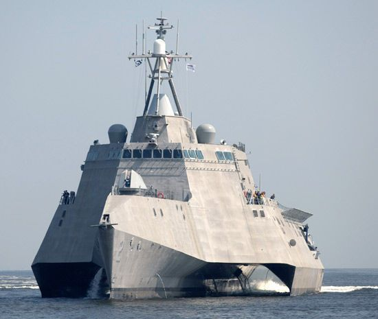 U.S. Navy LCS-2 Independence for the new coastal ships