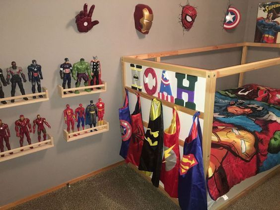 22 Spectacular Superhero Bedroom Ideas For Kids In 2020 Kids