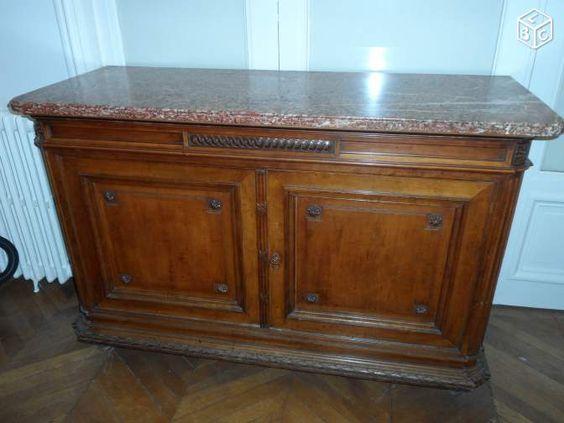 Buffet ancien avec marbre Ameublement Paris - leboncoin.fr