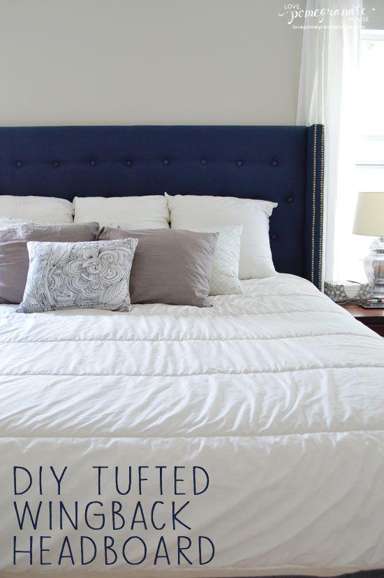 DIY Tufted Wingback Headboard || Love, Pomegranate House | Home ...