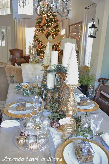 Christmas Tablescape Holiday Christmas Inspiration And