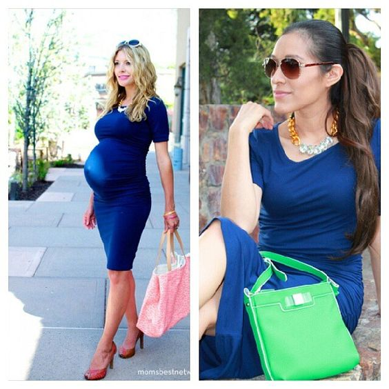 One dress to take you from bump to baby!  Featuring the @Isabella Artale Artale Oliver ruched t-shirt dress