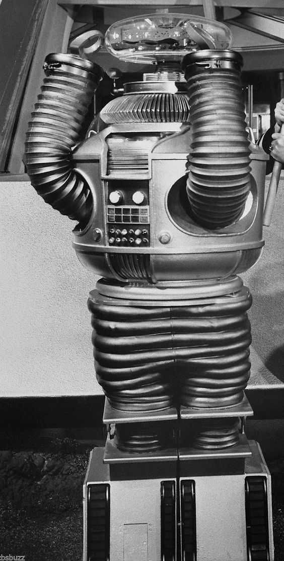 B9 ROBOT from LOST IN SPACE, as it appeared in the 3rd season of the TV series (original image cropped).