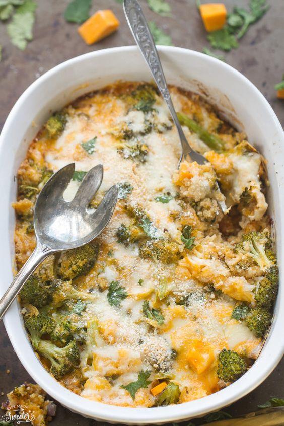 Squash Broccoli Quinoa Casserole - A cheesy, delicious quinoa ...