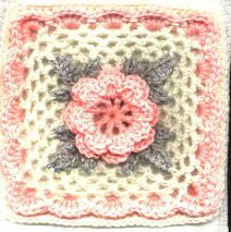 Irish Rose Square: free pattern Crochet Squares LOVE ...