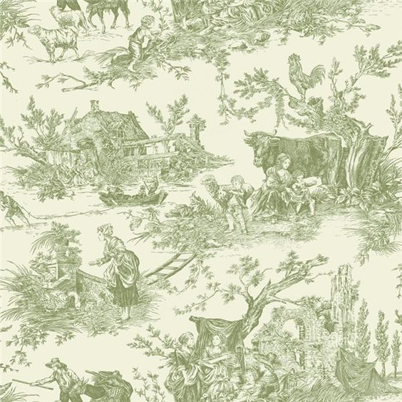 18e siecle, decoration and fashion | PAPIER PEINT TOILE DE JOUY