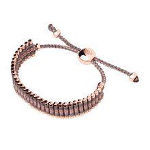 Rose Gold Taupe & Copper Friendship Bracelet