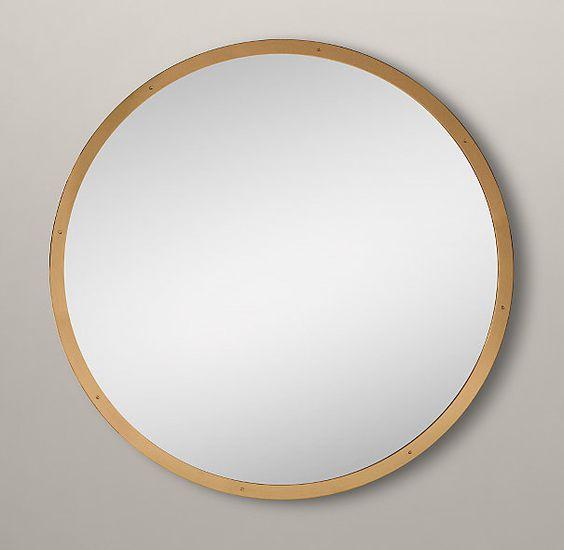 Custom metal mirror w level glass 60 restoration for Custom mirror glass