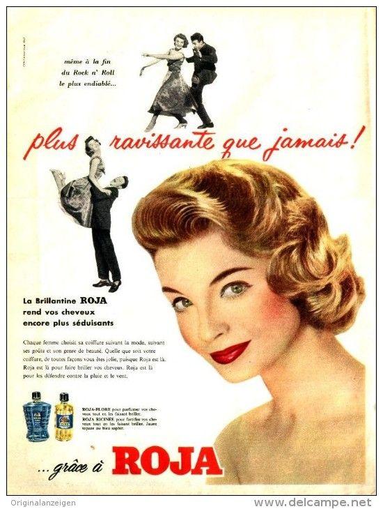 Original-Anzeige / Publicité 1957 - (en français) ROJA BRILLANTINE - ca. 240 x 320 mm