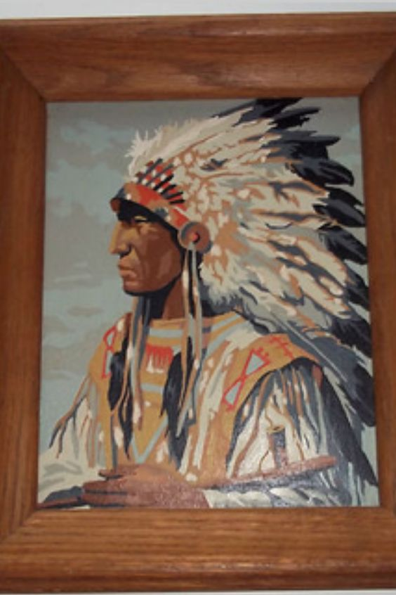 Indian Chief Paint by Numbers A generous gift from my muse Captain Finland